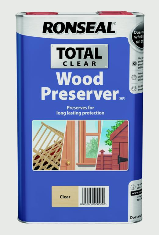 Ronseal Total Wood Preserver 5L - Clear