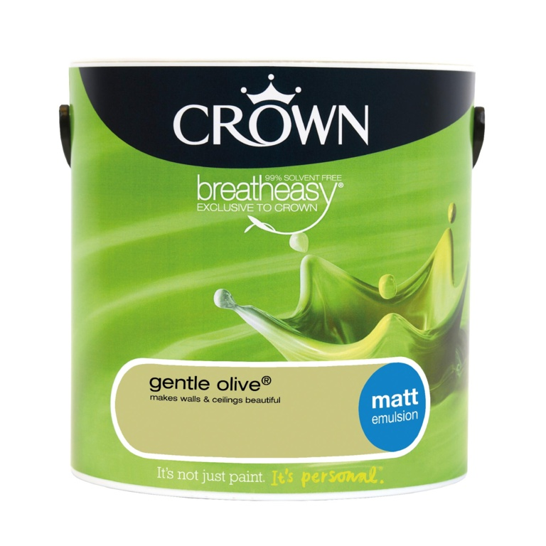 Crown Matt Emulsion 2.5L - Gentle Olive