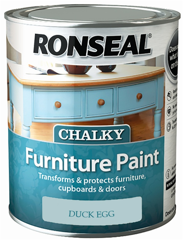 Ronseal Chalky Furniture Paint 750ml - Duck Egg