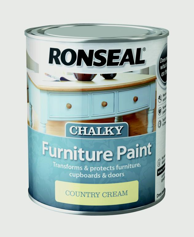 Ronseal Chalky Furniture Paint 750ml - Country Cream