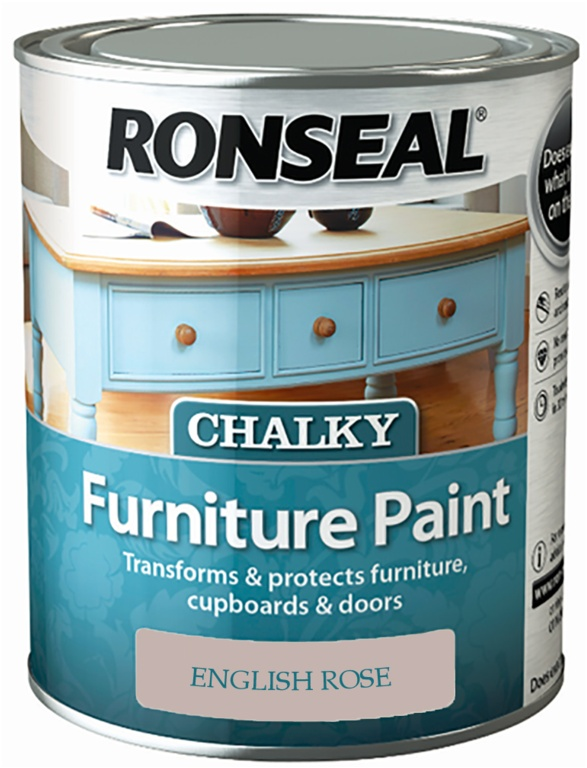Ronseal Chalky Furniture Paint 750ml - English Rose