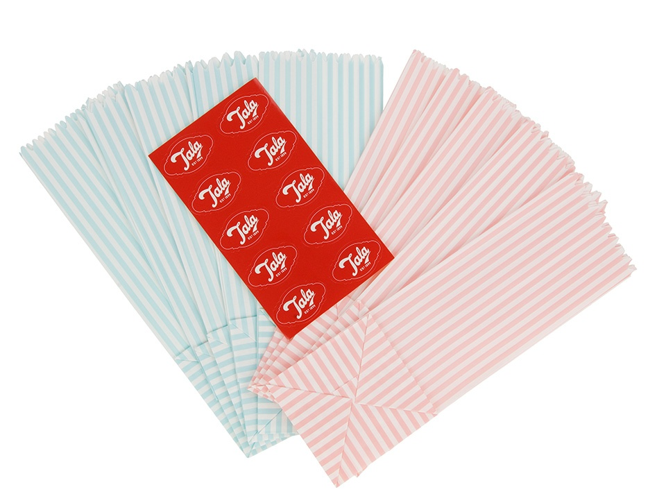Tala Originals Stripey Treat Bags - Pack 10