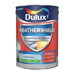 Dulux Weathershield Smooth Masonry Paint 5L Frosted Lake