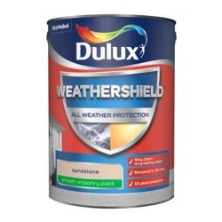 Dulux Weathershield Smooth Masonry Paint 5L Sandstone