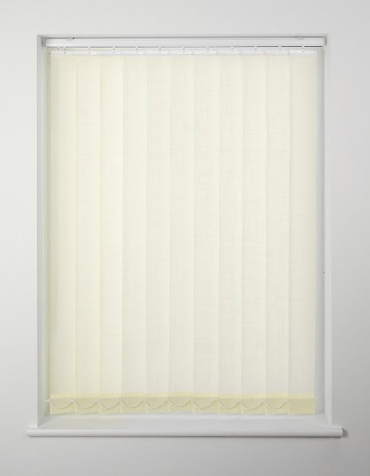 Swish Cordless Vertical Blind - 122 x 137cm Cream