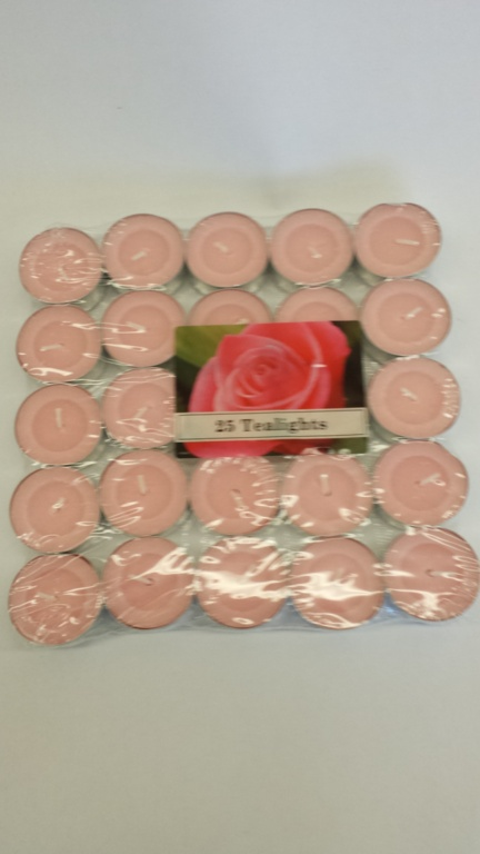 Price's Candles Tealights Pack 25 - Rose