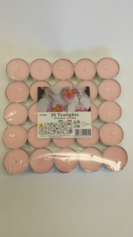 Price's Candles Tealights Pack 25 - Orchid