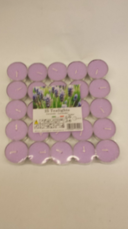 Price's Candles Tealights Pack 25 - Lavender