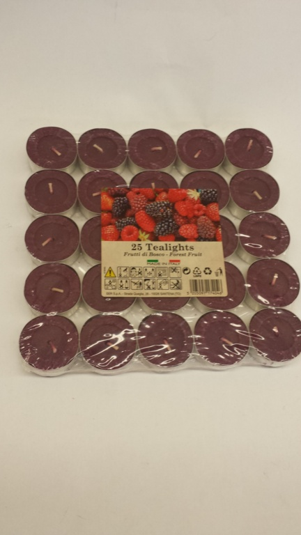 Price's Candles Tealights Pack 25 - Mixed Berries