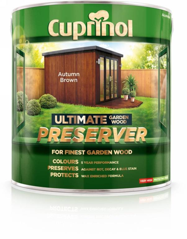 Cuprinol Ultimate Garden Wood Preserver 4L - Autumn Brown