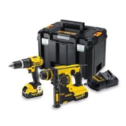 DeWalt 18V XR Compact Hdd & Rotary Hammer Kit