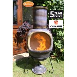 Gardeco Asteria Xl Chimenea Sand Brown