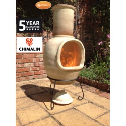 Gardeco Asteria Xl Chimenea L/Brown