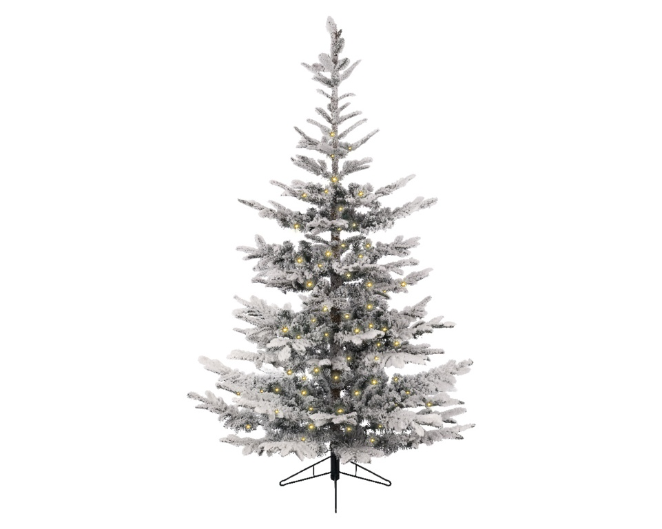 Kaemingk Snowy Spruce Pre Lit - 7.5ft 630 Light