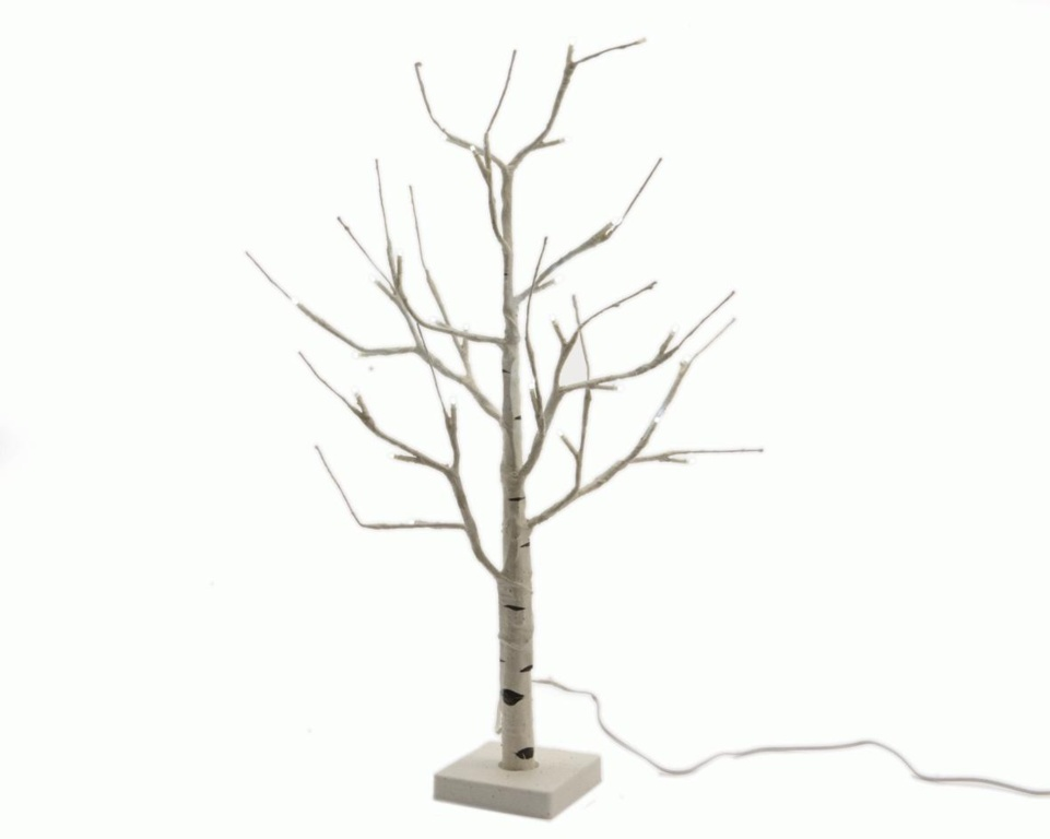 Kaemingk LED Birch Tree - White / Cool White - 125cm - 48 Lights