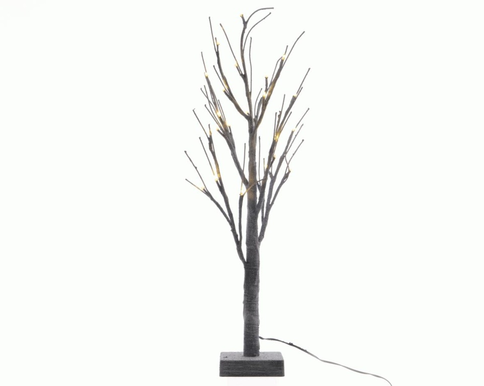 Kaemingk LED Outdoor Grey Chalk Tree - 125cm Warm White With Black Cable