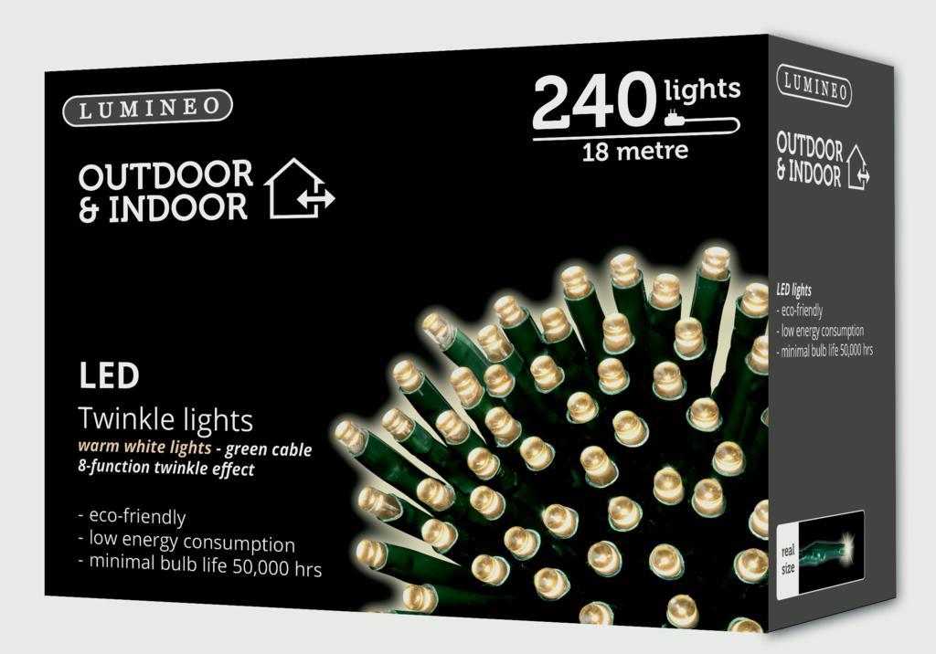 Kaemingk 9m Micro LED Outdoor Twinkle Lights - Cool White