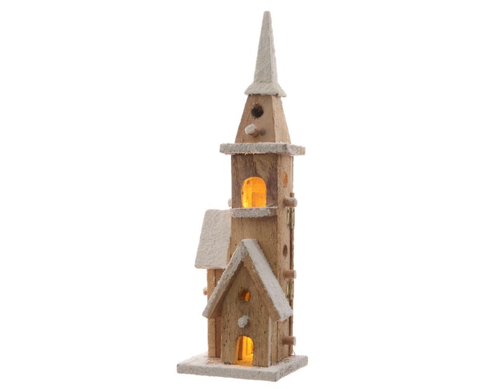 Kaemingk LED Wooden Chapel - 40 x 12 Warm White