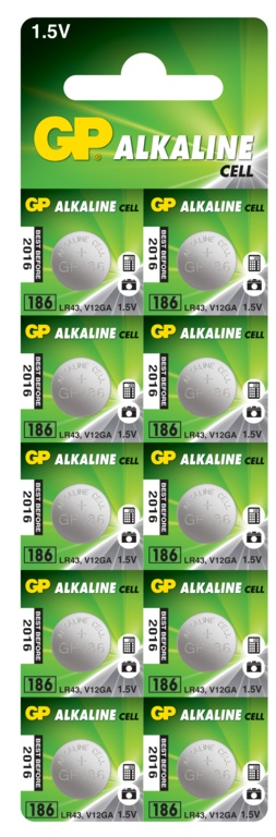 GP Coin Cell Batteries - LR43