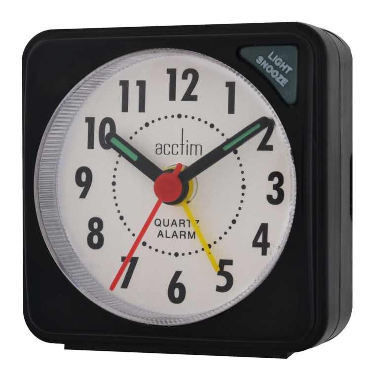 Acctim Ingot Mini Alarm Clock - Black