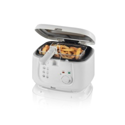 Swan Square Fryer - White 2.5L