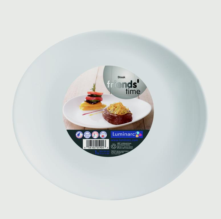 Luminarc Friends Time Steak Plate - 30cm