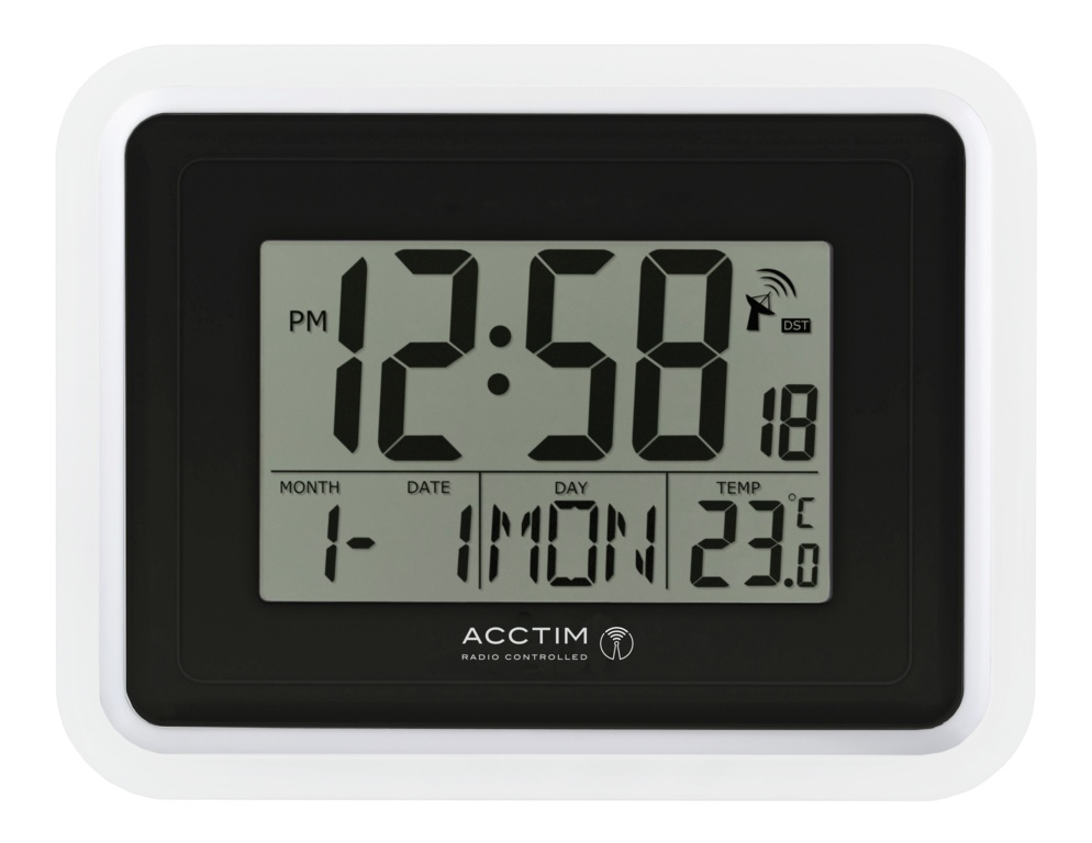 Acctim Delta Wall Clock - White