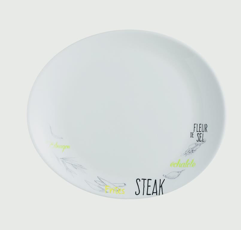 Luminarc Friends Time Bistro Steak Plate - 30cm