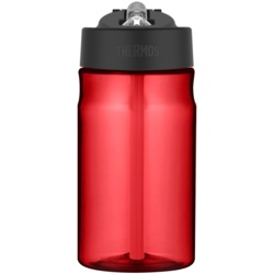 Thermos Hydration Bottle with Straw Red