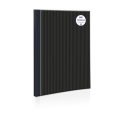 A Star Casebound Notebook Pinstripe