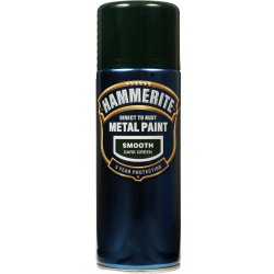 Hammerite Metal Paint 400ml Aerosol Smooth Dark Green