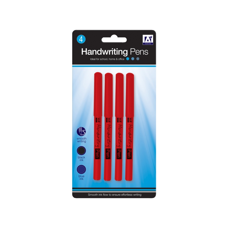 A Star Handwriting Pens - Pack 4