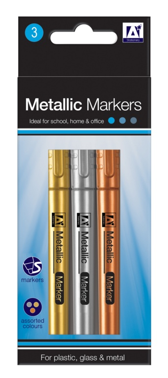 A Star Metallic Markers - Pack 3