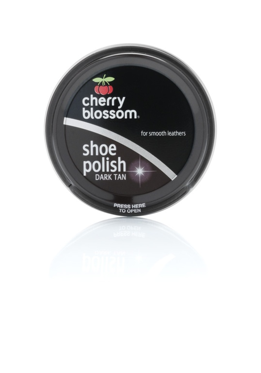 Cherry Blossom Shoe Polish - 50ml Tin Dark Tan