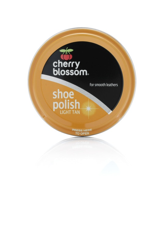 Cherry Blossom Shoe Polish - 50ml Light Tan
