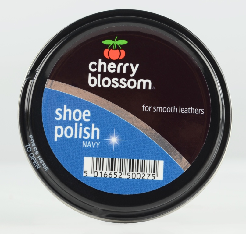 Cherry Blossom Shoe Polish - 50ml Tin Navy