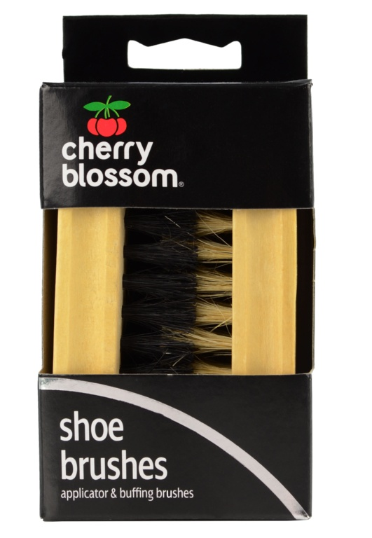 Cherry Blossom Shoe Brush Set - Twin Pack