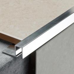 Tile Rite Silver Listello Strip Tiles - 2.44m x 12mm