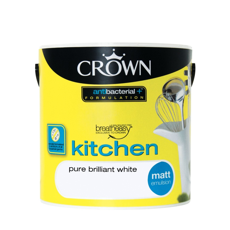 Crown Kitchen Matt 2.5L - Pure Brilliant White