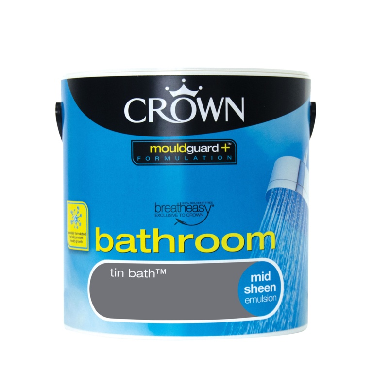 Crown Bathroom Mid Sheen 2.5L - Tin Bath