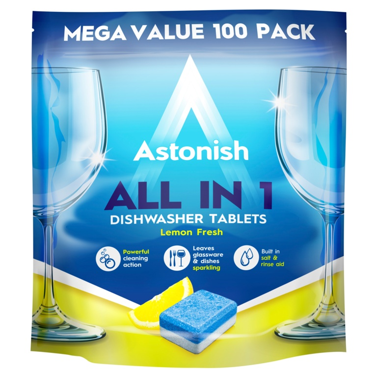 Astonish All In 1 Dishwasher Tablets - Pack 100