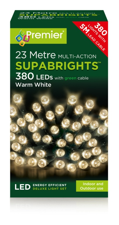 Premier Multi Action Supabrights - 380 Warm White Green Cable