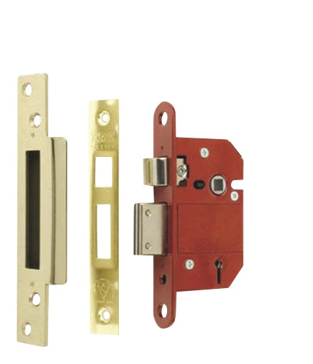 Era Fortress 5 Lever Mortice Sashlock - Brass 63mm