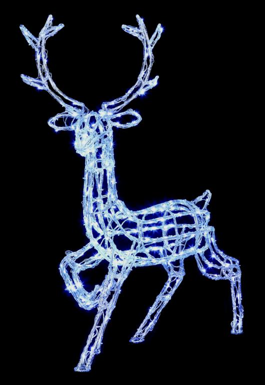 Premier Acrylic Standing Reindeer 240 LEDs White - 1m