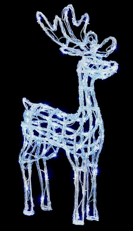 Premier Acrylic Standing Reindeer 90 White LEDs - 70cm