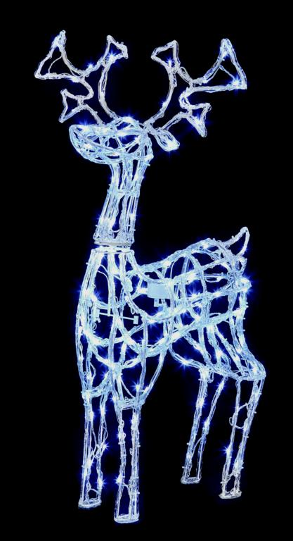 Premier Acrylic Standing Reindeer 160 White LED - 1m