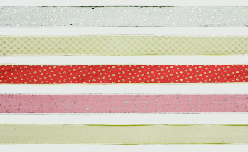 Premier 6cm x 2.7m Ribbon - Red, Gold, Silver, Mixed