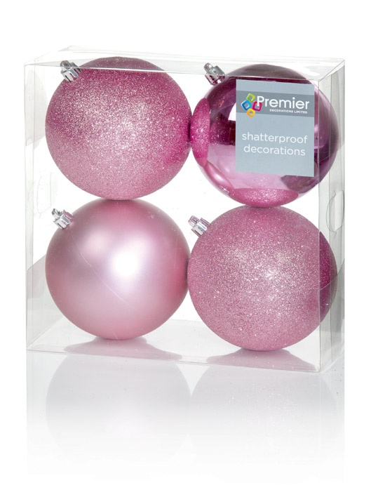 Premier Multi Finish Balls - Pink 4 x 100mm Pack 4
