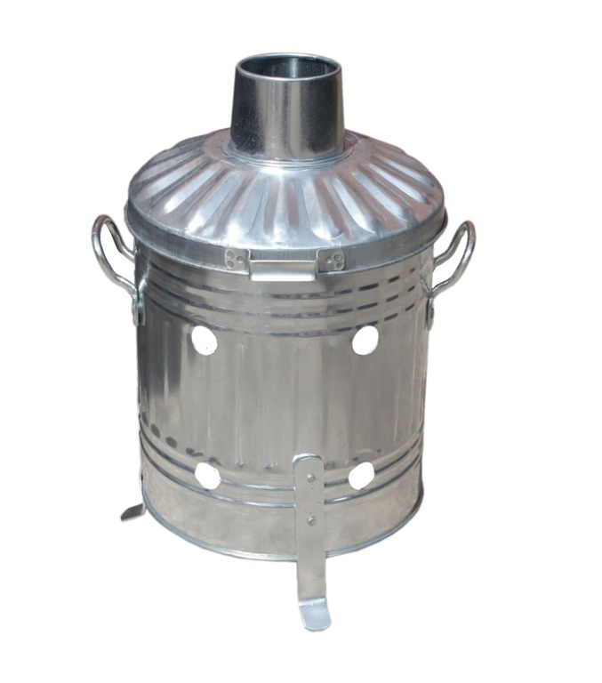 Ambassador Galvanised Mini Garden Incinerator - Tapered