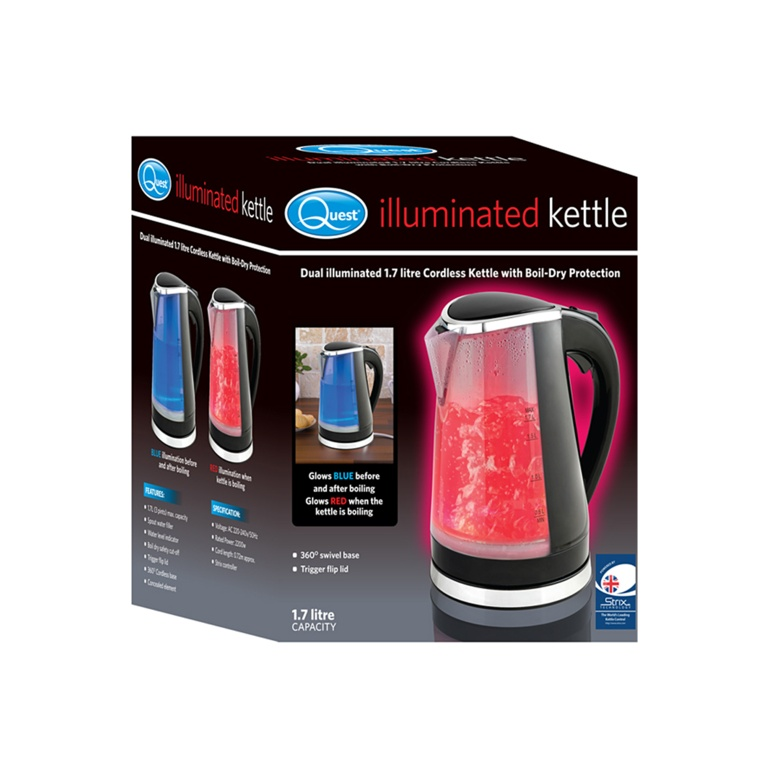 Quest Illuminated Kettle - Black